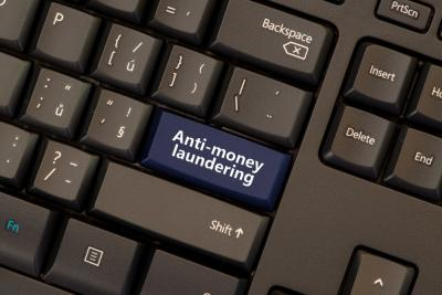 Anti-money laundering computer keyboard